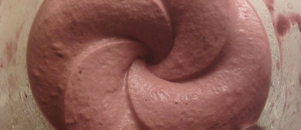 Berry flawoured banana ice cream